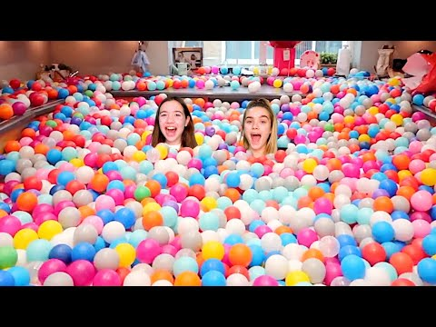 DAD TURNED OUR HOUSE INTO A GIANT BALL PIT! *SURPRISE