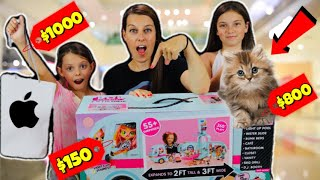 DAD BUYS WHATEVER WE DRAW CHALLENGE!! We PRANKED our DAD!! Olivia gets a New PET!!!