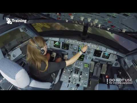 Inexperienced girl trying to land A320