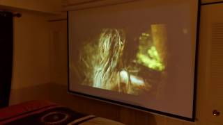 Electrical pull down projector screen with Epson 1080p