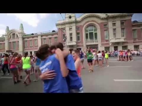 'Флешмоб по-русски-3' СИБИРСКИЙ ХОРОВОД- 2014.ДЕНЬ ГОРОДА В НОВОСИБИРСКЕ