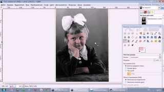 Gimp. Урок 2 - Раскрашивание фотографий(На этом уроке вы научитесь раскрашивать черно-белые фотографии в бесплатном растровом редакторе GIMP (Гимп), 2015-04-16T13:21:16.000Z)