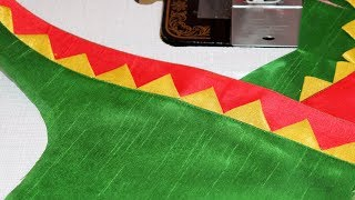 Silk Saree Daily Wear Blouse Cutting and Stitching