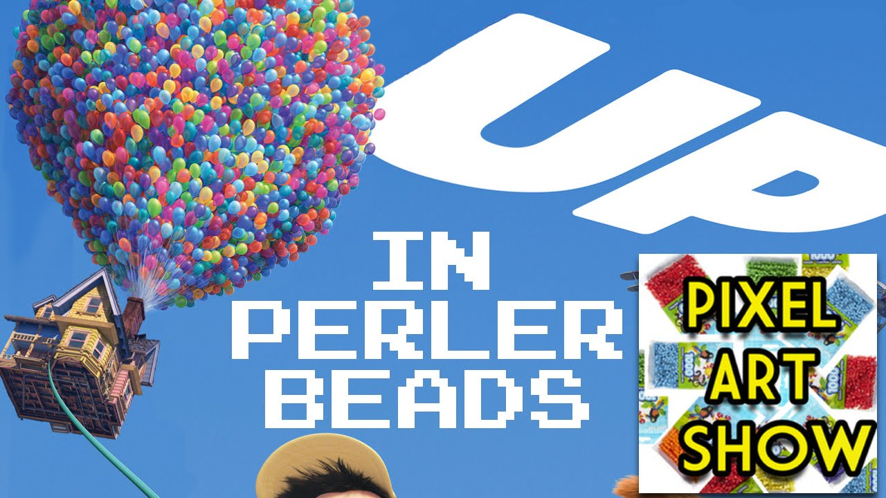 Perler Bead Tutorial: House from UP - Pixel Art Show