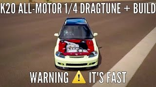 forza horizon 3 k20 all motor ek hatch fwd drag tune how to build 1 4 mile dig fast