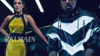 """Ким Кардашьян и Канье Уэст в рекламе мужской коллекции от """"Balmain"""