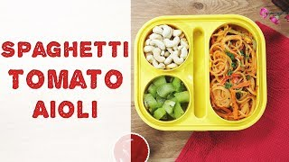 Spaghetti Pasta Recipe | How To Make Red Sauce Spaghetti Pasta | Pasta Recipe For Kids Tiffin Box