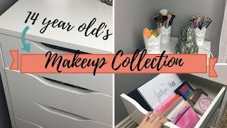 MAKEUP COLLECTION OF A 14 YEAR OLD | 2018
