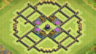 Clash of Clans || Epic || TH9-Farming Base ||Anti Hog Base||Anti Air Base||