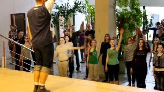 Даугавпилс 2012 - флешмоб - тренировка 2