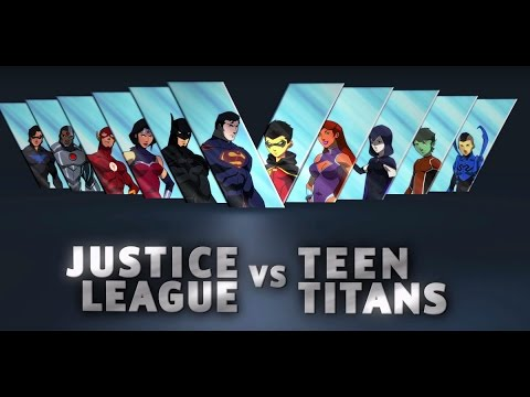 Geeky Gentlemen Justice League vs Teen Titans (2016)