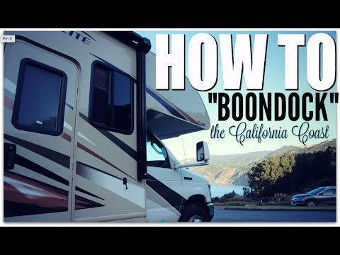 """How to """"boondock"""" the California Coast INTRO 