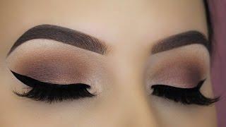 Easy Brown Matte Eye Makeup Tutorial