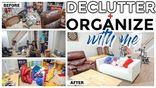 EXTREME BASEMENT DECLUTTERING AND ORGANIZING WITH ME
