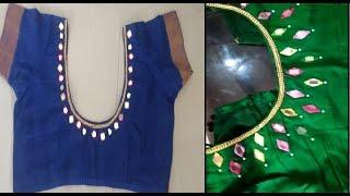 DIY designer blouse   blouse designing at home   how to design a designer blouse