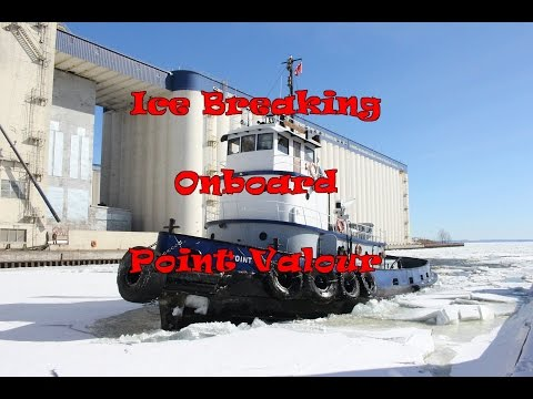 Ice Breaking onboard Tugboat Point Valour Thunder Bay Ontario