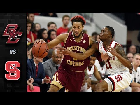 Boston College vs NC State Basketball Highlights (2017-18)