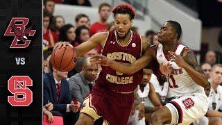 Boston College vs NC State Basketball Highlights (2017-18)