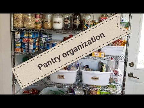 Open pantry organization kitchen