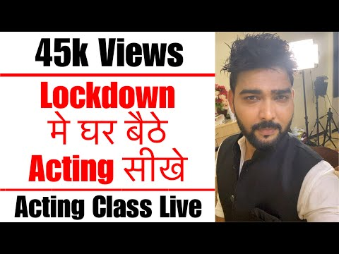 Acting Class by Vinay Shakya in Hindi | Lets Act Actor Studio,Mumbai
