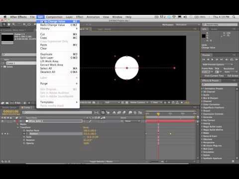 Ключевые кадры и интерполяция в After Effects