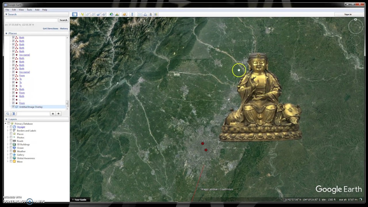 How to add pictures on google earth