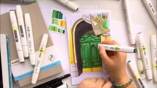 """Видео урок рисования маркерами """"Старая дверь с историей"""" (ТРЕЙЛЕР)"""
