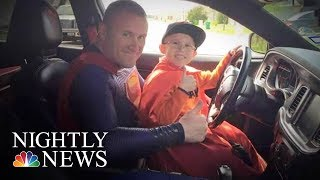 This Police Offers Brings Superheroes To Life For Sick Children | NBC Nightly News
