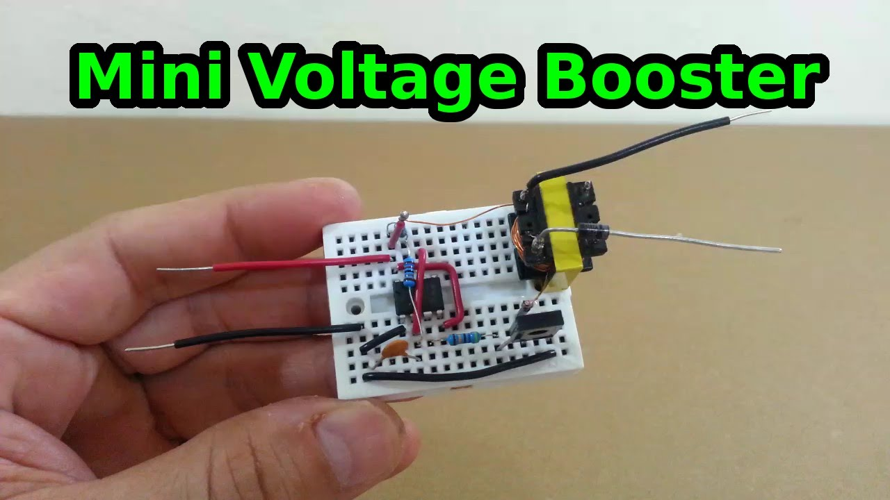 Voltage Booster Circuit Diagram | Mini Voltage Booster 6 To 600 Volts Youtube