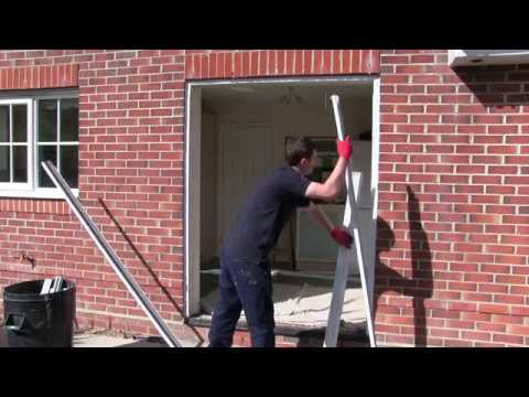 Aluminium sliding patio door installation 2017  YouTube
