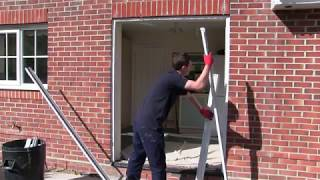 Aluminium sliding patio door installation 2017