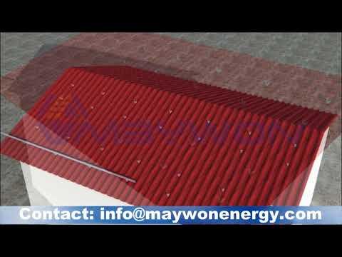 Installation PV module on Cpac Roof top-ติดตั้งแผงโซล่าที่หลังคาลอนคู่