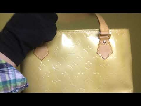 TBC: Louis Vuitton Yellow Vernis Houston Shoulder Bag