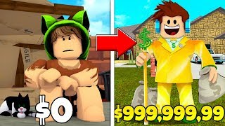 FROM POOR to RICH-i GOT RICH!! I FOUND a LOT of MONEY on ROBLOX)