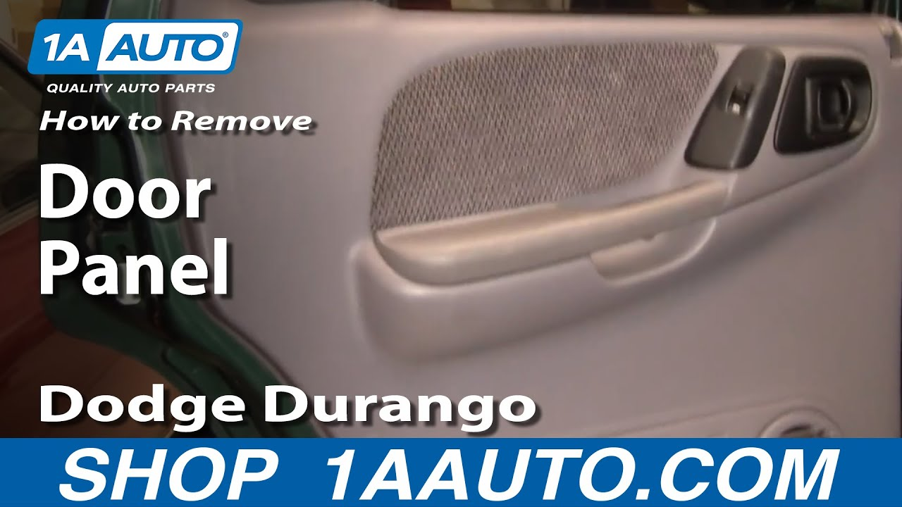 How To Install Replace Rear Door Panel Dodge Durango 98 03