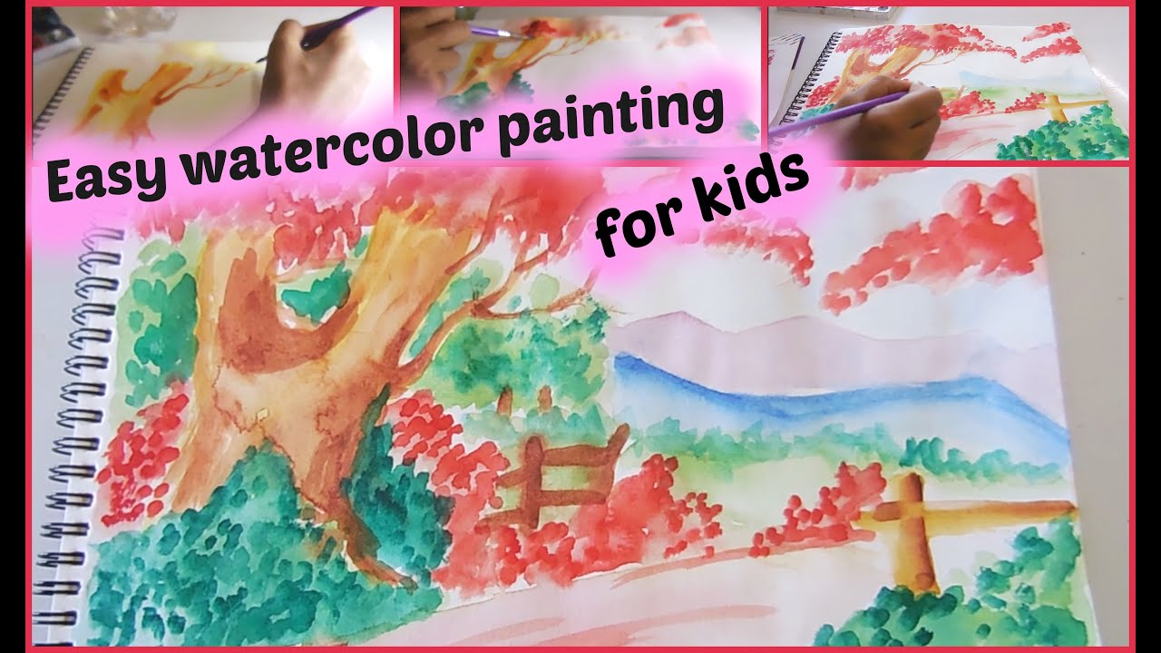 Easy watercolor painting for kids youtube for Simple watercolor paintings for kids