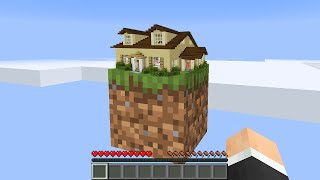 Minecraft but you can build a house on 1 block...
