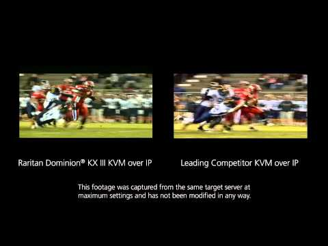 Raritan Dominion® KX III KVM over IP Video Quality Comparison