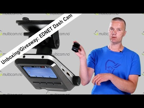 Multicom #59 Ednet Dash Cam: Giveaway Og Unboxing