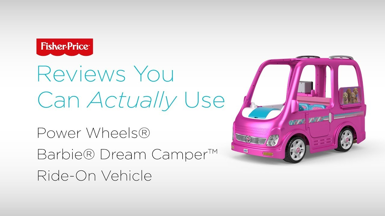 Reviews You Can Actually Use Wheels Barbie Dream Camper Ride On Vehicle Fisher Price
