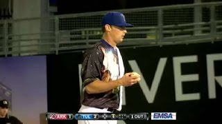Tulsa's Frankoff fans eight batters