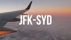 Long-ass flight from USA to Australia