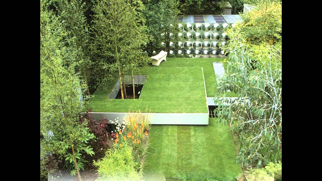 creative small square garden design youtube