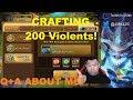 [Summoners War] Crafting and Powering up  200 Vio Runes!