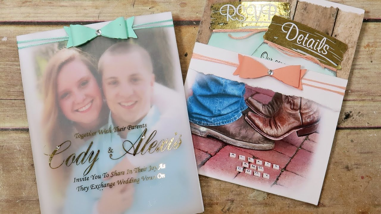 Diy Wedding Invitations Youtube
