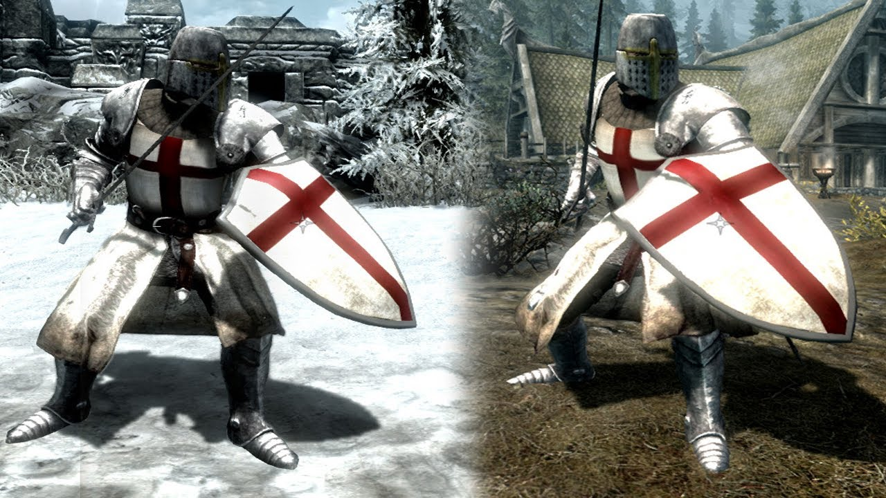 Skyrim Mod of the Day - Episode 103: The Crusades - Knights Templar Armor