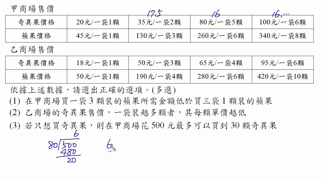 高中數學105年學測解題-多選08(高雄中正高工陳富慶老師授權) - YouTube