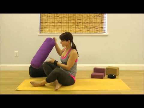yoga with props to relieve back pain  youtube