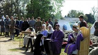 Historia Normannis at Whittington Castle - 2015 - Ecclesiastical Court (Video 1)(Historia Normannis perform an Ecclesiastical (Bishop's) Court as part of their 2015 re-enactment weekend at Whittington Castle in Shropshire., 2015-05-11T19:03:32.000Z)