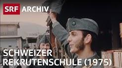 Soldaten in der Rekrutenschule | Schweizer Armee | SRF Archiv